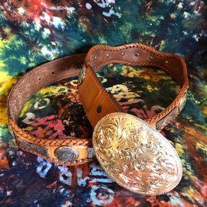 Vintage Tony Lama Belt w/ Removable Buckle